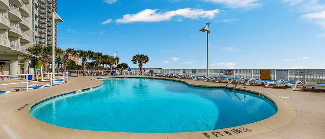 Sandy beach resort myrtle beach condo rentals oceanfront for Garden city myrtle beach hotels