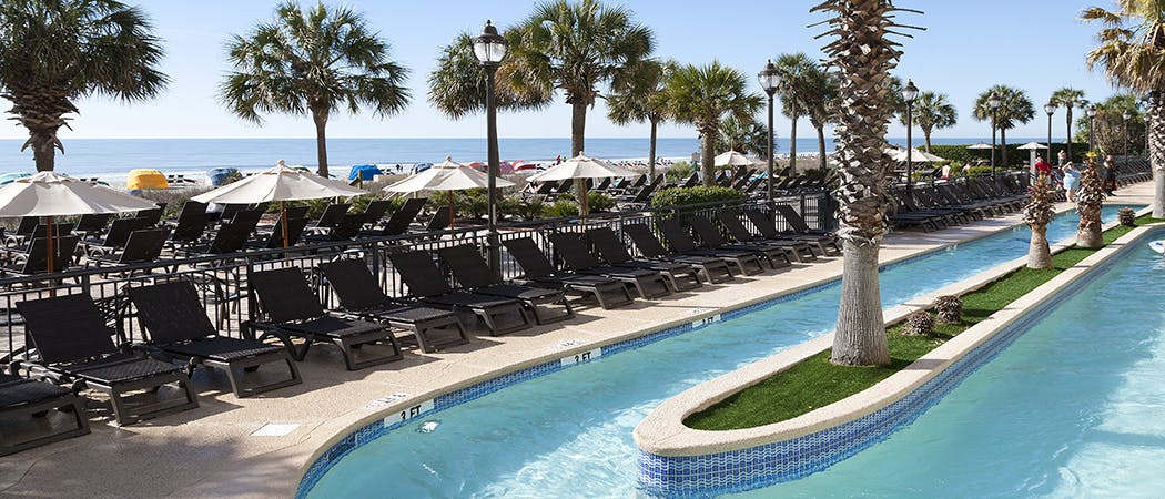 View of outdoor pool at Breakers Resort in Myrtle Beach, SC